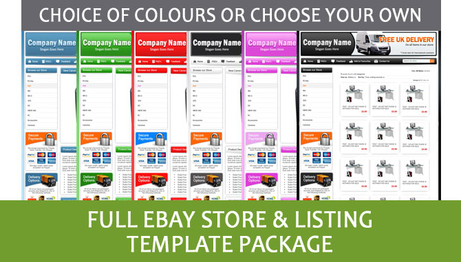 Professional ebay store shop and listing template for Ebay store design templates free